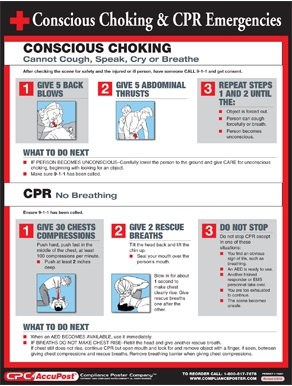 Postings, SafeStaff Choking - Heimlich Maneuver Poster